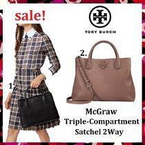 セール 新作 Tory Burch Mcgraw Triple-Compartment Satchel