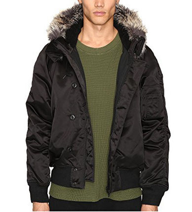 ☆adidas Originals☆by Kanye West Faux Fur Trim Bomber
