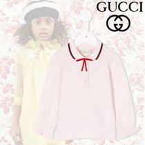 17-18AW GUCCI(グッチ)ウェブ ポロシャツ ライトピンク コットン