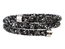 SWAROVSKI  Crystaldust Bangle Double,M black s5237757