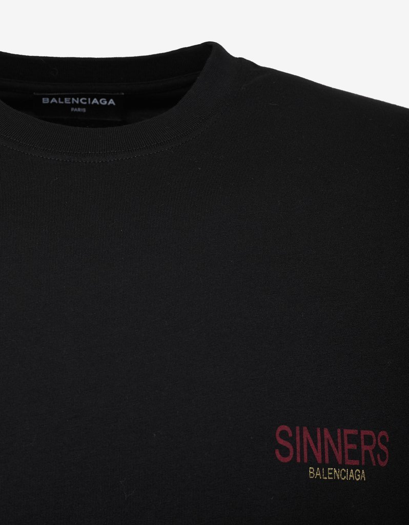 送料関税込!2018AW新作 BALENCIAGA Black Oversized T-Shirt