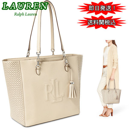 限定セール!Ralph Lauren Perforated Anstey Halee 上質レザー