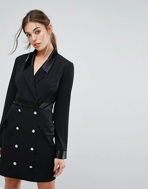 ASOS/スーツデザインPrettyLittleThing Button Detail Tux Dress