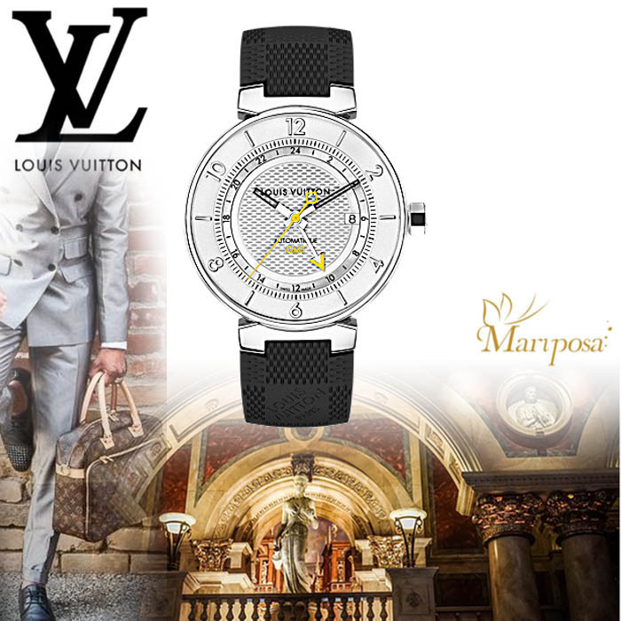 17AW 新作 ルイヴィトンTAMBOUR MOON  GMT 41.5 腕時計