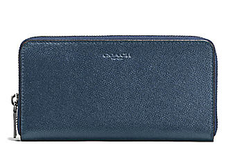 ☆COACH☆CROSSGRAIN LEATHER ACCORDION WALLET☆DARK DENIM