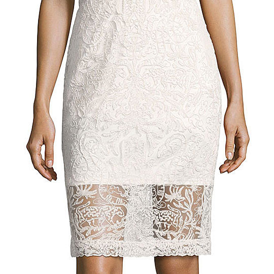 ◆Tadashi Shoji◆Strapless Two-Tone Lace Cocktail Dress