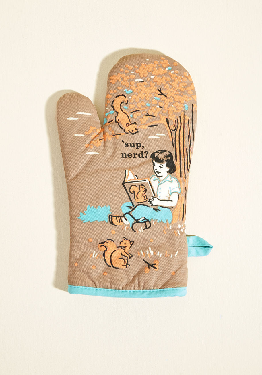◎送料込み◎ it's the hot that counts cotton oven mitt in