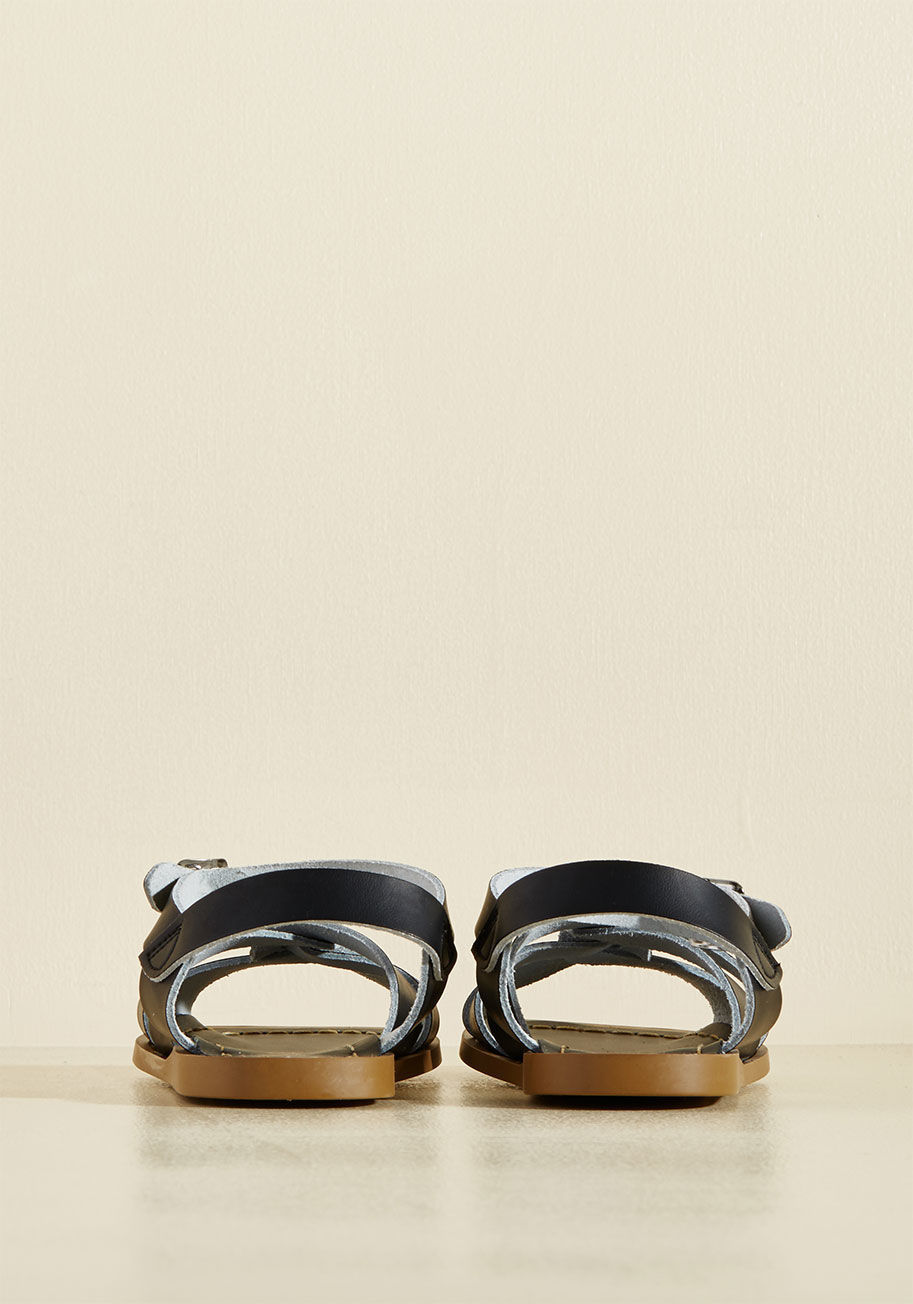 ◎送料込み◎ salt water leather sandal in black