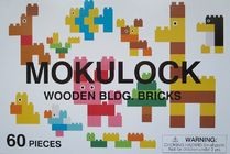 "Wooden Bricks ☆Mokulock☆ 60 pieces ""Kodomo"" Made in Japan"