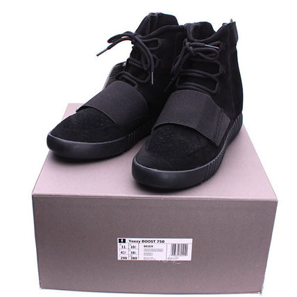 US11 29cm■adidas  KANYE WEST YEEZY BOOST 750 BLACK■K35