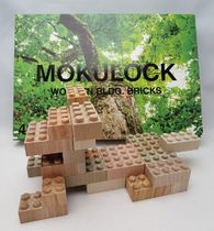 Wooden Bricks ☆Mokulock☆ 60 pieces: Made in Japan