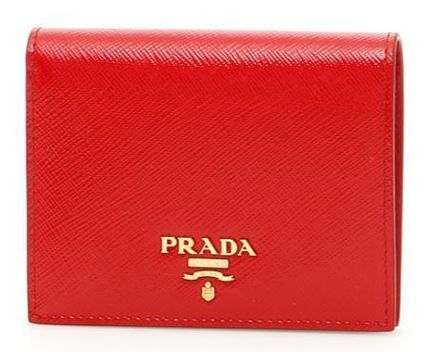 PRADA Patent And Saffiano Wallet