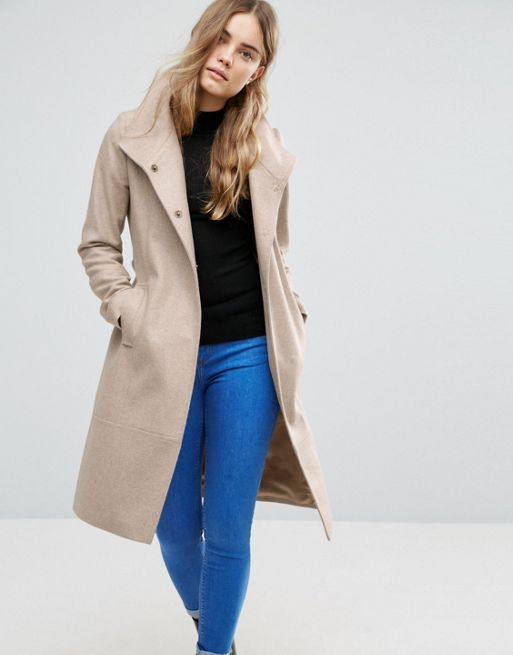 日本未入荷  ASOS Wool blend Coat With Funnel Neck コート