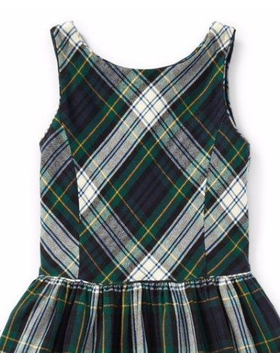 新作!大人もOK ♪ Tartan Fit-and-Flare Dress girls 7~16