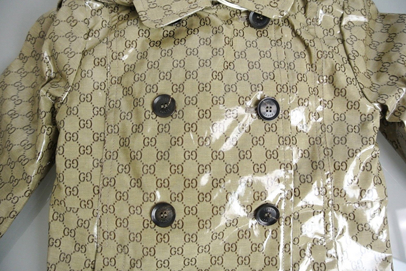 GUCCI★グッチ★素敵Crystal GG Hooded Double-breast Rain Coat