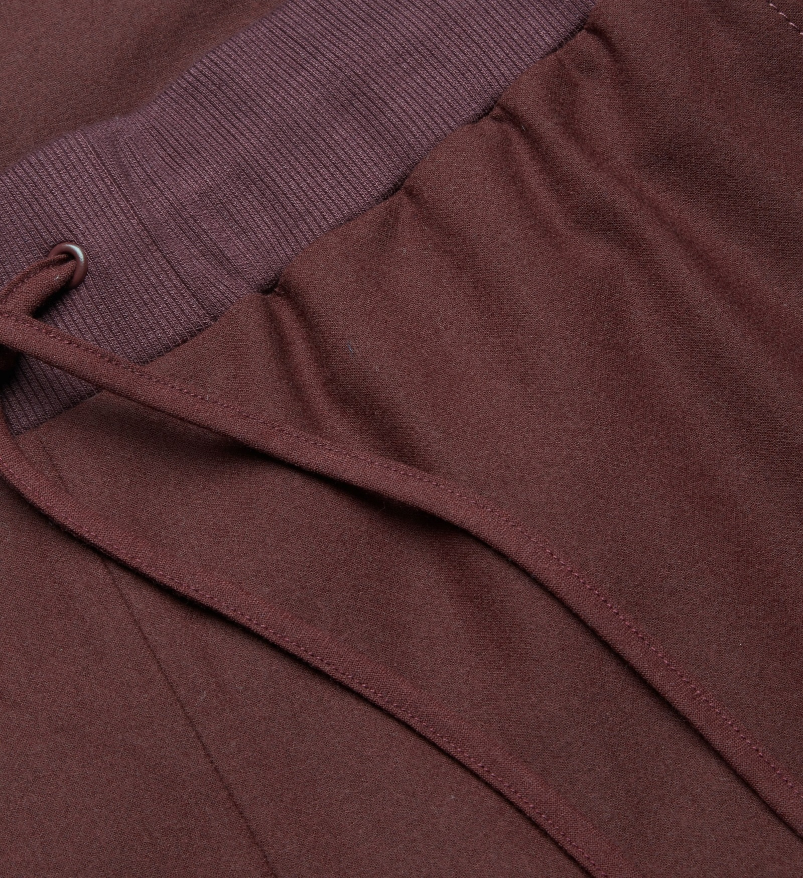 """COS""WOOL TROUSERS WITH ELASTIC WAISTBAND BURGUNDY"