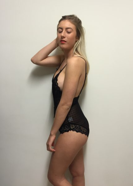 OH MY LOVE Heavenly Lace Bodysuit ? Black ボディスーツ