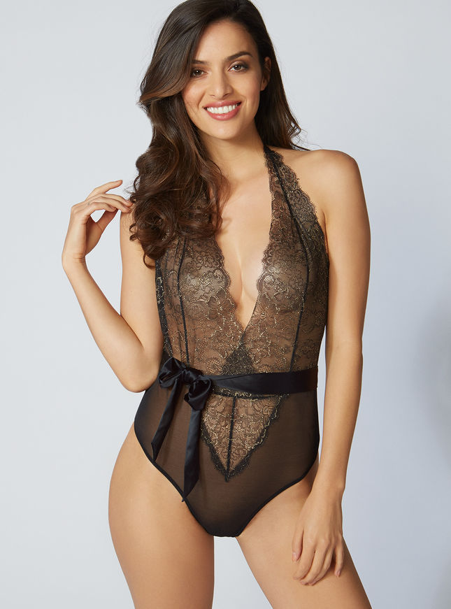 Boux AVENUE Phoenix lace thong body ボディスーツ