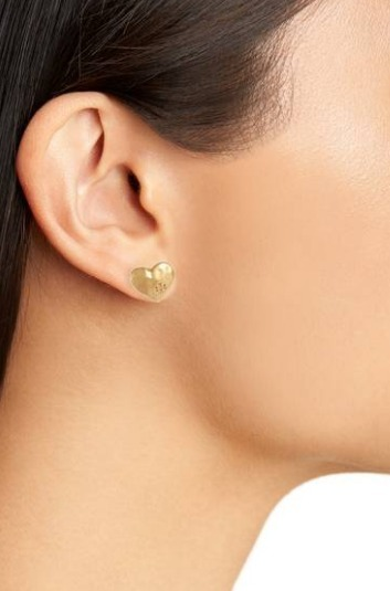 ハートピアス☆Tory Burch☆Heart Stud Earrings Vintage Gold