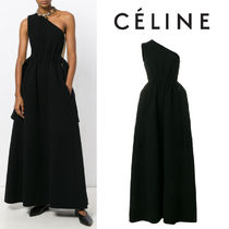 【17AW】大注目!!★CELINE★one shoulder evening gown