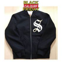 SALE★★Supreme OLD ENGLISH ZIP VARSITY JACKET/BLACK/Mサイズ