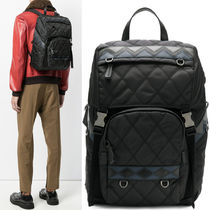 PRM106 QUILTED NYLON & SAFFIANO BACKPACK