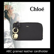 クロエ☆ABC grained leather cardholder☆カードホルダー☆