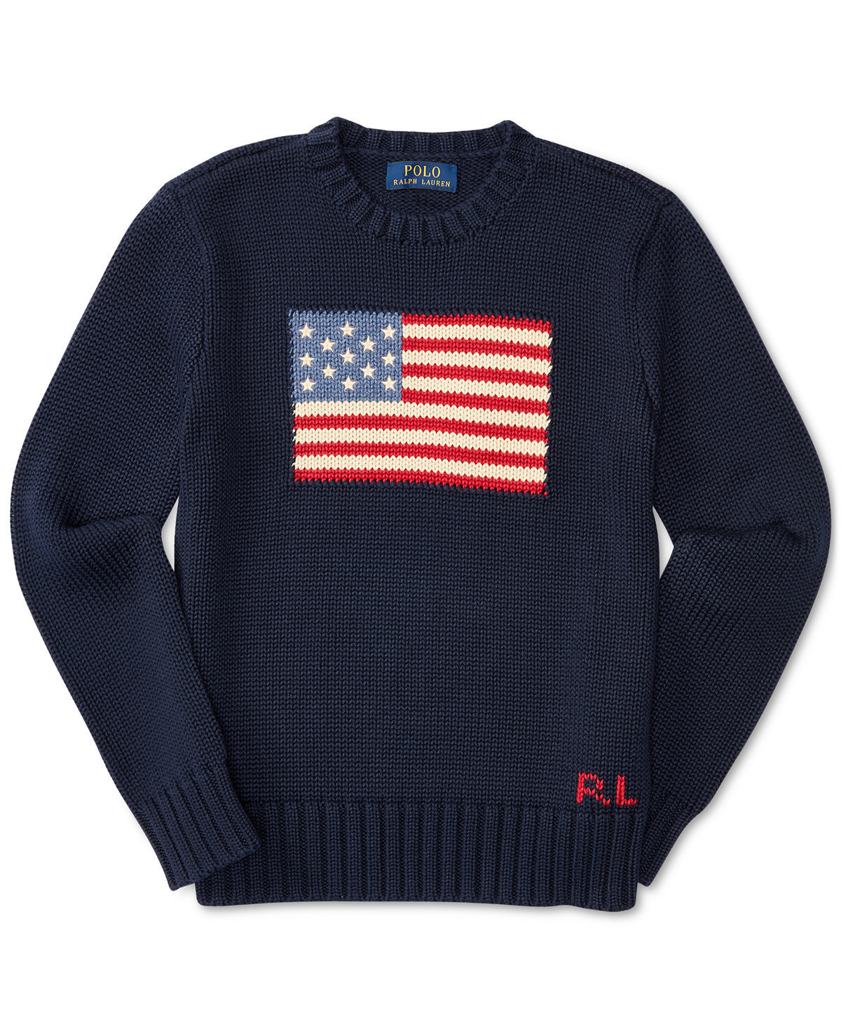 Ralph Lauren Flag Intarsia Cotton Sweater 2色