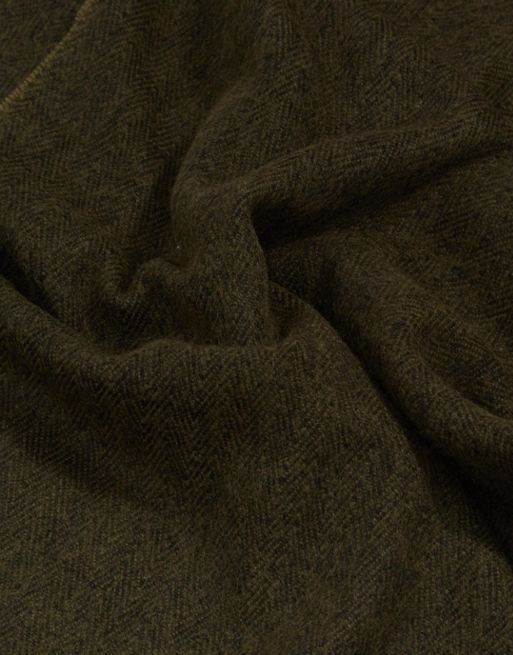 送料・関税込み!ASOS Blanket Scarf In Khaki With Te スカーフ