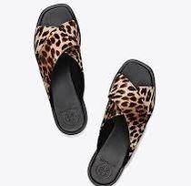 sale!Tory Burch-GEMMA LEOPARD SLIDE