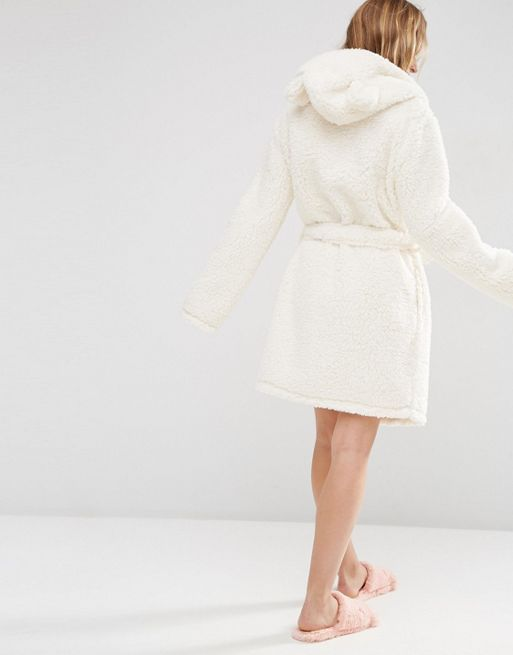 関送込 ASOS Fluffy Cloud Robe with Ears パジャマ