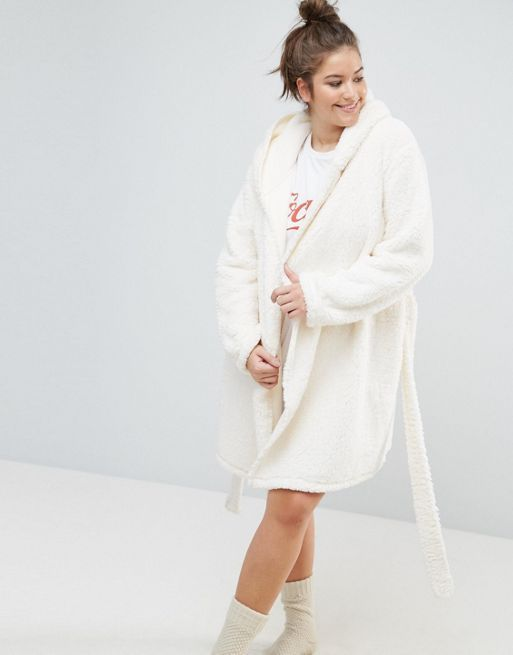 関送込 ASOS CURVE Fluffy Cloud Robe with Ears パジャマ