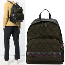 PRM108 QUILTED NYLON & SAFFIANO BACKPACK