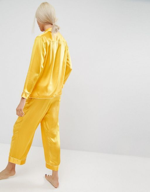 関送込 ASOS WHITE 100% Silk Pyjamas パジャマ