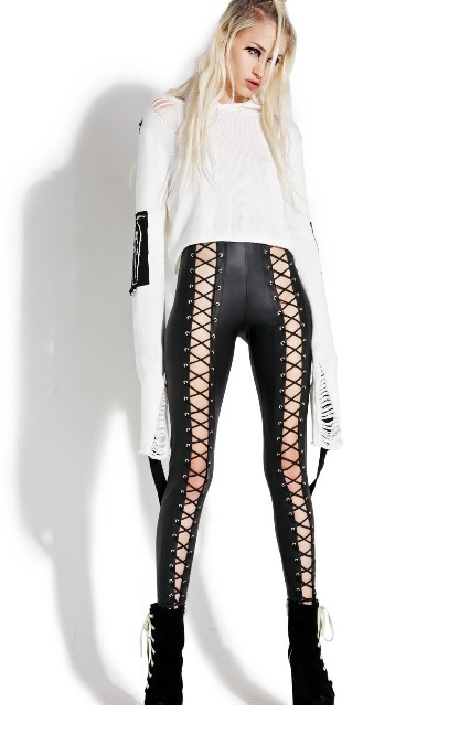 ★送料込【Current Mood】Nancy Corset Leggings レースアップ♪