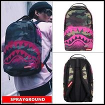 追尾/関税込 SPRAYGROUND CHENILLE BLACK CAMO SHARK TOP LOADER