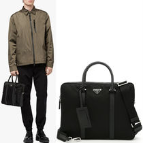 PRM116 NYLON & SAFFIANO BRIEF CASE