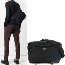 PRM118 NYLON & SAFFIANO MESSENGER BAG