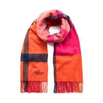 Mulberry Large Check Scarf マカロンピンク