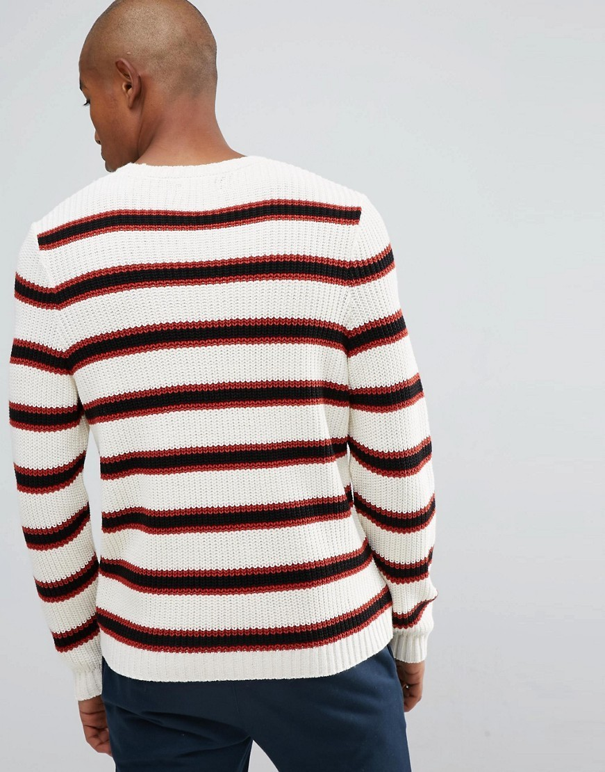 ◎送料込み◎ ASOS Textured Striped Jumper In Ecru