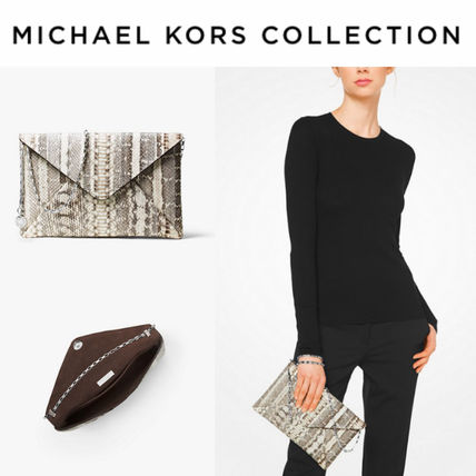 MK☆最新コレクション☆Snakeskin Envelope Clutch☆
