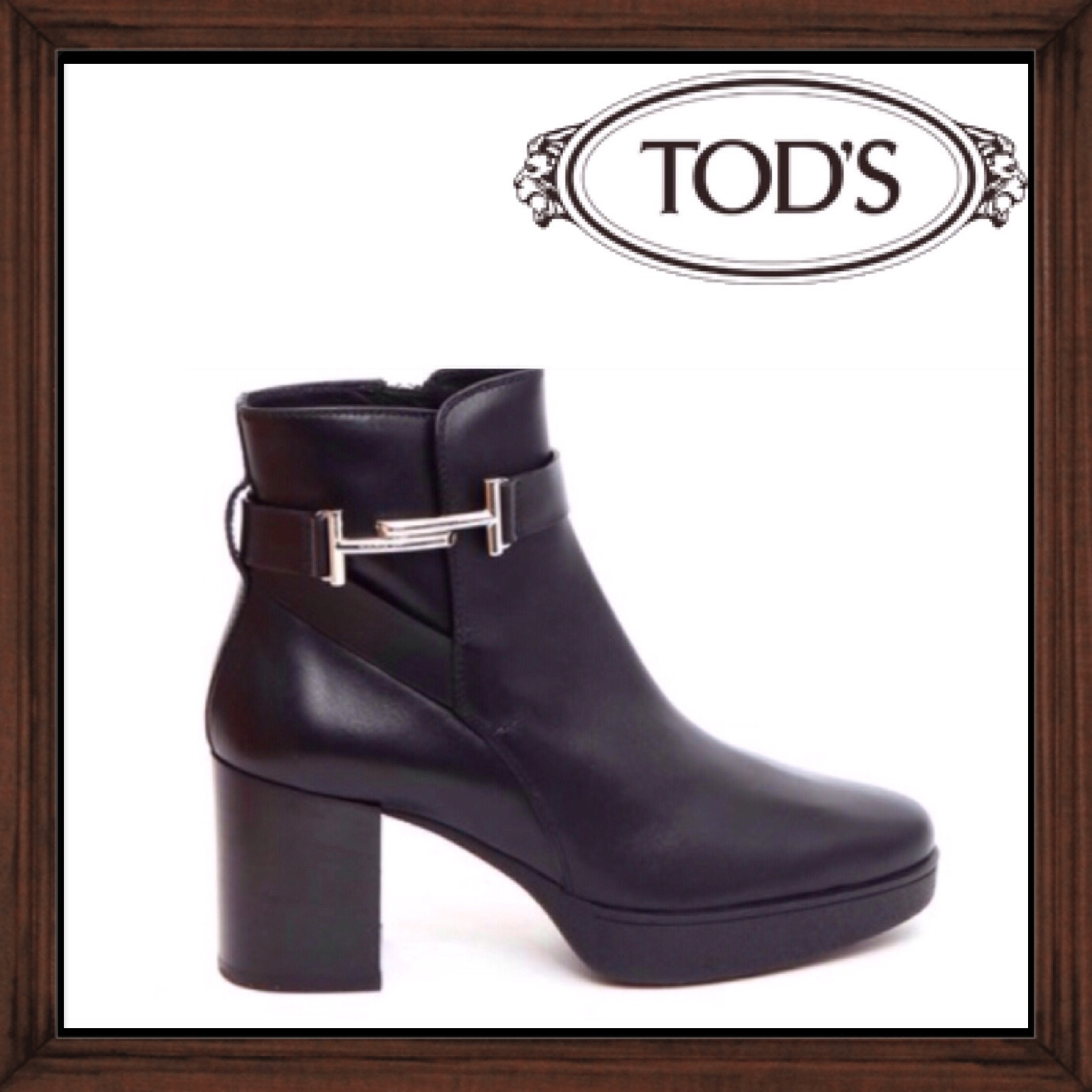 ★★TOD'S《トッズ》LEATHER HEEL ANKLE BOOTS  送料込み★★