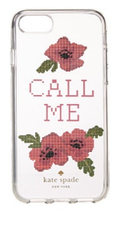 Kate Spade New York Needlepoint Call Me Phone iPhone7 case