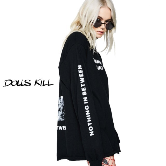 送料/関税込 †DOLLS KILL† IM A SINNER IM A SAINT LONG-Tee