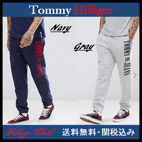 Tommy Jeans☆90's Capsule カフ ロゴ ジョガーパンツ☆送関込み