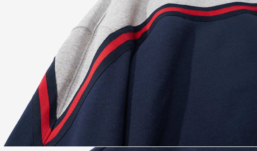 GROOVE RHYME  2017 CHEST STRIPE LAYERD MTM OVER FIT (NAVY)