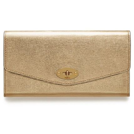 Mulberry 長財布 Mulberry☆Darley Wallet 長財布 カード用スロット12枚 ゴールド(2)
