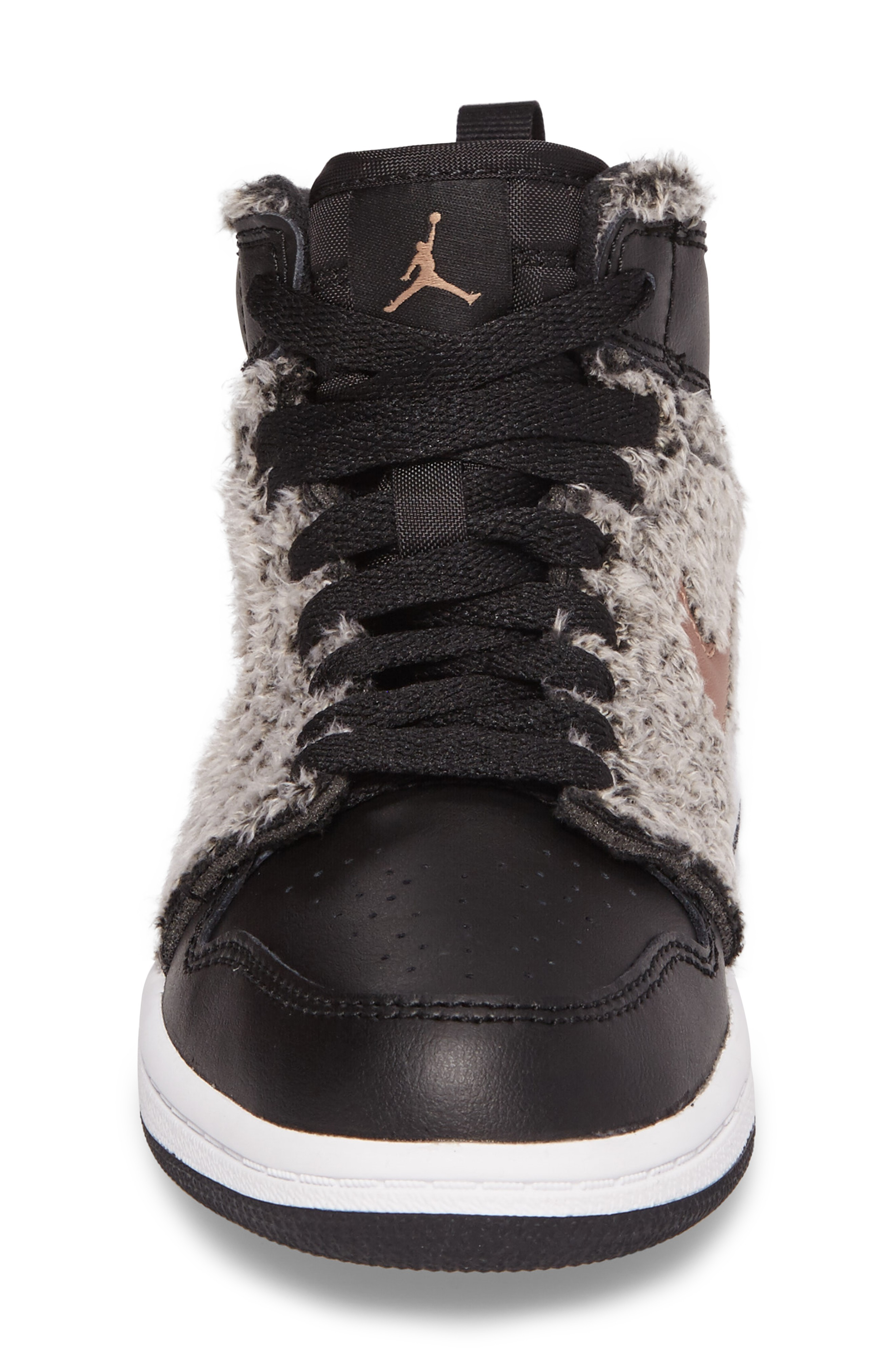 ナイキ Air Jordan 1 Retro Faux Fur High Top S キッズシューズ