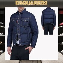 【18SS NEW】D SQUARED2_men/Denim Quilted ダウンジャケット