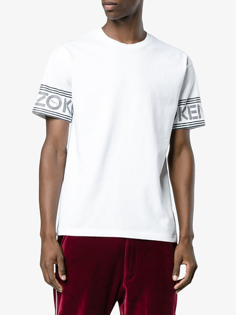 KENZO(ケンゾー)t shirt with branded sleeves Tシャツ